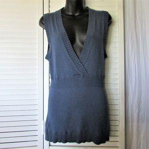 BGBG Maxazria dusty blue sleeveless sweater L